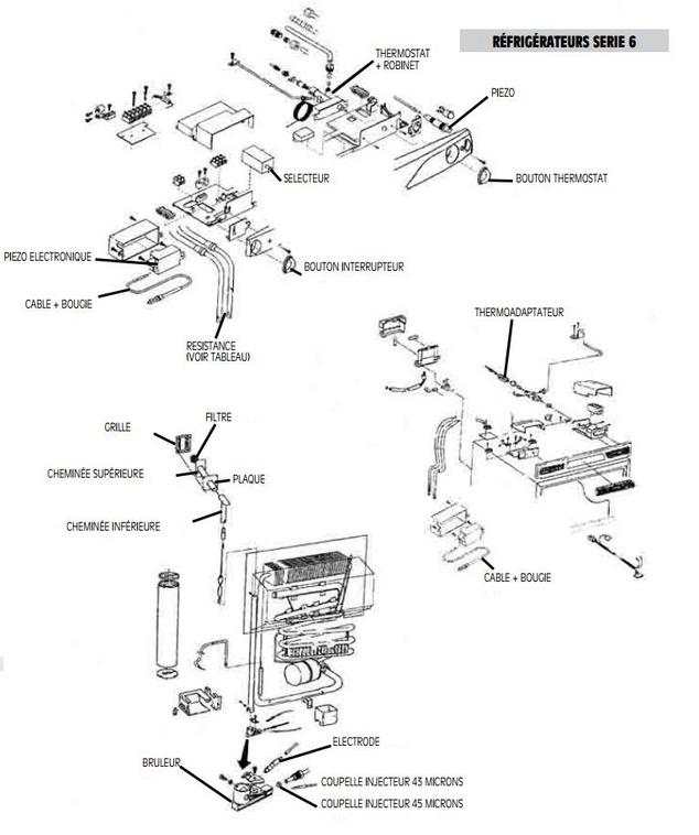 pieces detachees refrigerateur serie 6 dometic