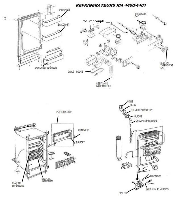 Pieces detachees frigo trimixte electrolux ustensiles de - Pieces detachees cuisine ...
