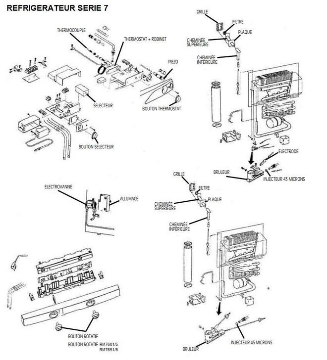 pieces detachees refrigerateur serie 7 dometic